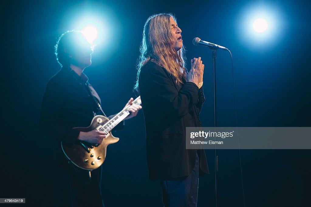 Patti Smith performs at the 'Stopp - Let's Protect the Park' nature benefit concert at Harpa Concert Hall on March 18, 2014 in Reykjavik, Iceland.