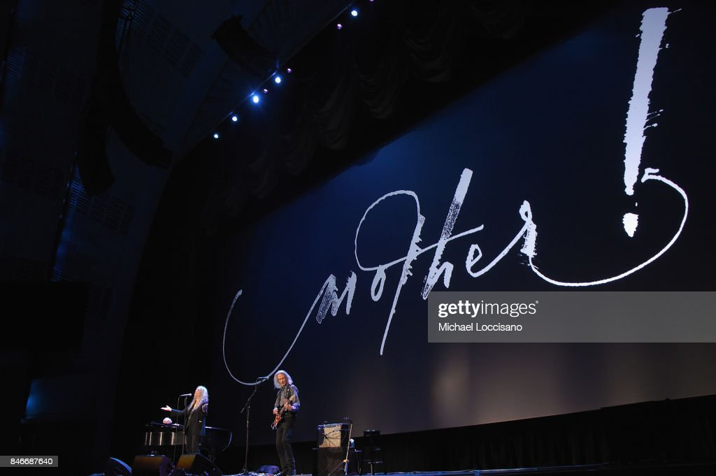 Patti Smith performs during the New York premiere of 'mother!' at Radio City Music Hall onSeptember 13, 2017 in New York, New York.