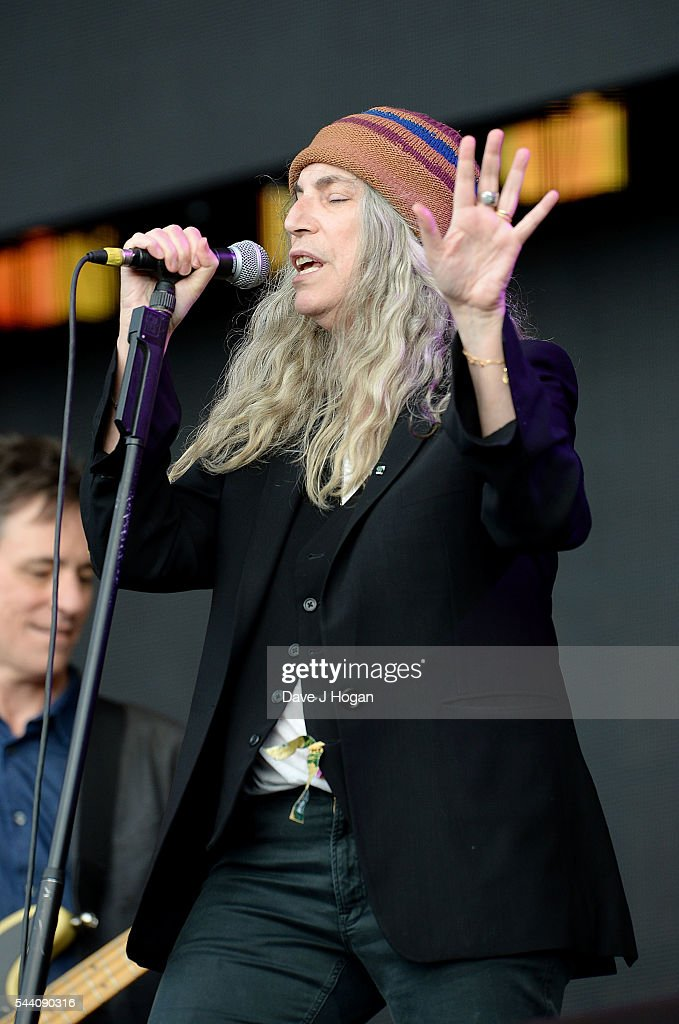 <a gi-track='captionPersonalityLinkClicked' href=/galleries/search?phrase=Patti+Smith+-+Godmother+of+Punk&family=editorial&specificpeople=221285 ng-click='$event.stopPropagation()'>Patti Smith</a> performs on stage at the Barclaycard Presents British Summer Time Festival in Hyde Park on July 1, 2016 in London, England.