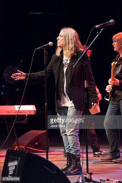 Patti Smith performs on stage during the fourth day of Primavera Sound Festival on May 30 2015 in Barcelona Spain