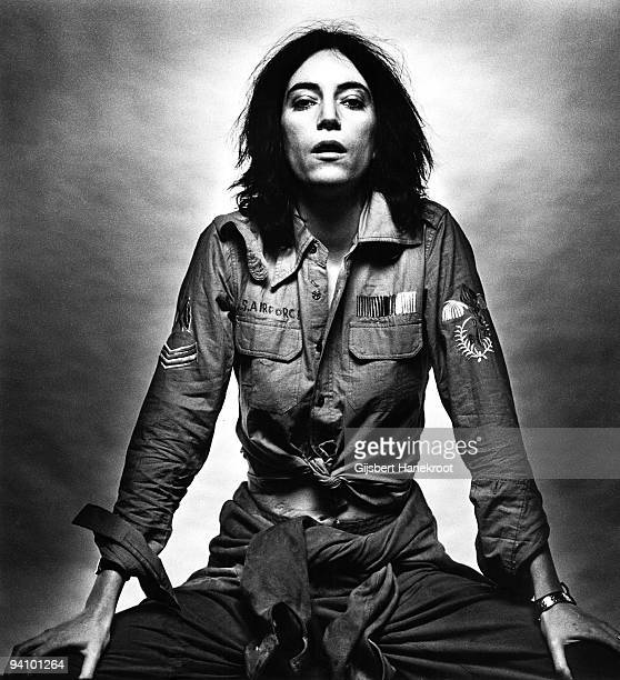 Patti Smith posed in Amsterdam Netherlands on October 09 1976