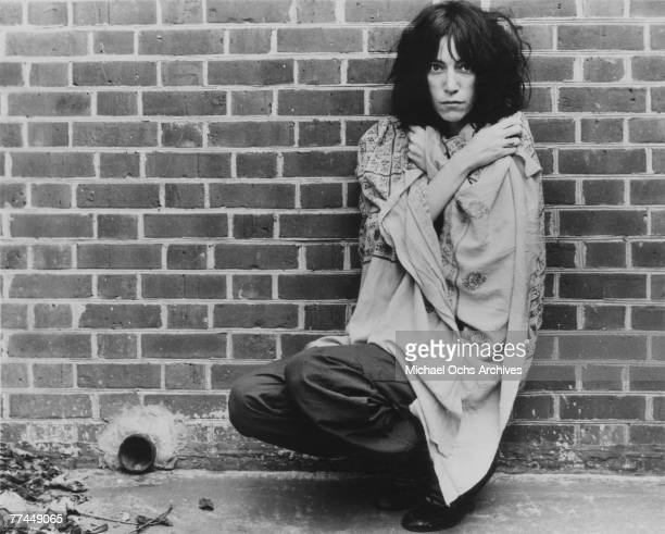 Patti Smith poses for a portrait circa 1976