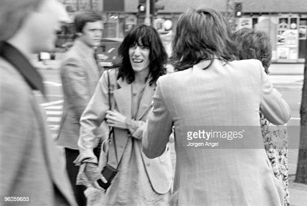 Patti Smith poses for a portrait in May 1976 in Copenhagen Denmark