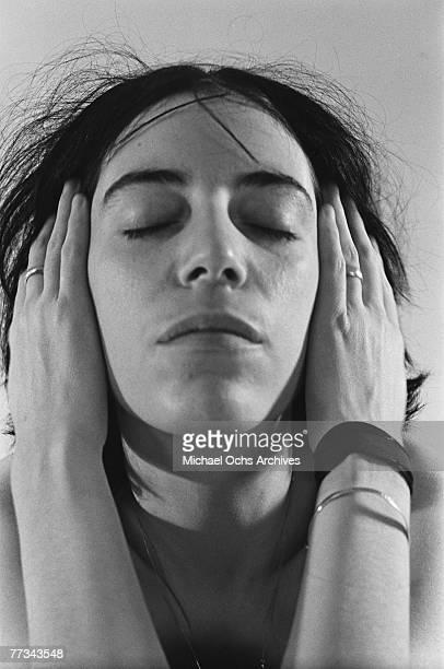 Patti Smith poses for a portrait in November 1974 in Los Angeles California