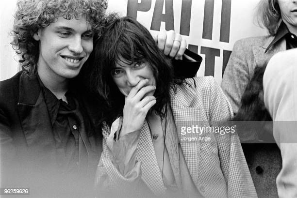 Patti Smith poses for a portrait next to Richard Sohl in May 1976 in Copenhagen Denmark