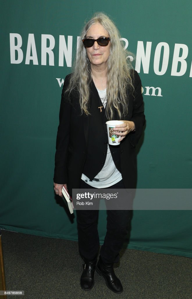 Patti Smith promotes her new book, 'Devotion' at Barnes & Noble Union Square on September 19, 2017 in New York City.
