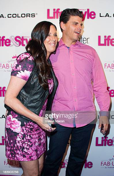 Patti Stanger and David Krause arrives at Life Style's Hollywood In Bright Pink Event Hosted By Giuliana Rancic at Bagatelle on October 9 2013 in Los...