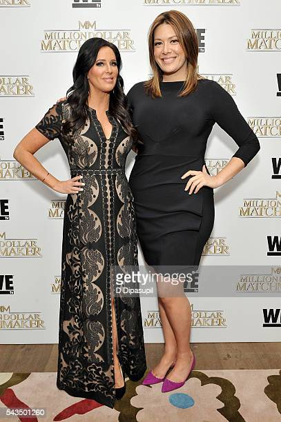 Patti Stanger and Michelle Collins attend the Million Dollar Matchmaker premiere at the Crosby Street Hotel on June 28 2016 in New York City