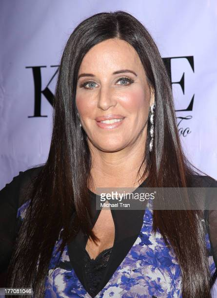 Patti Stanger arrives at the Have Faith Swimgerie fashion event held at Kyle by Alene Too on August 20 2013 in Beverly Hills California