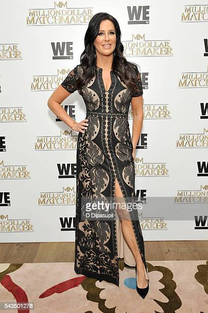 Patti Stanger attends the Million Dollar Matchmaker premiere at the Crosby Street Hotel on June 28 2016 in New York City