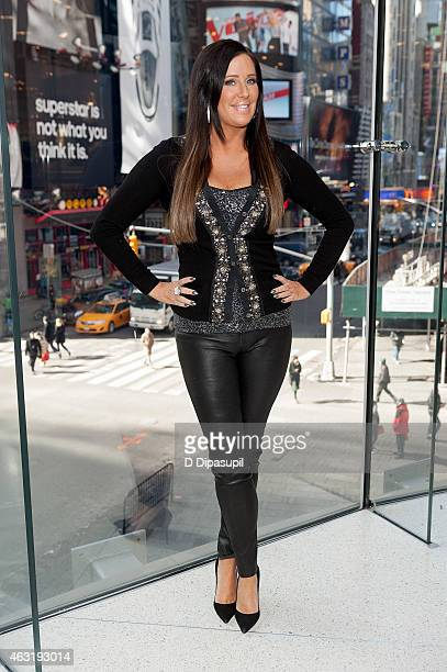 Patti Stanger visits 'Extra' at their New York studios at HM in Times Square on February 11 2015 in New York City