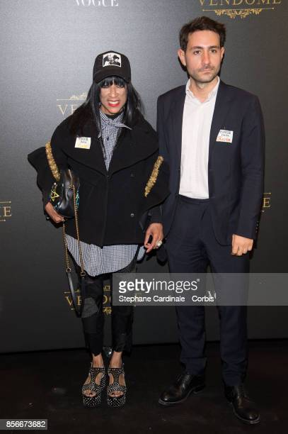 Patti Wilson and Kevin Takinel attend Vogue Party as part of the Paris Fashion Week Womenswear Spring/Summer 2018 at on October 1 2017 in Paris France