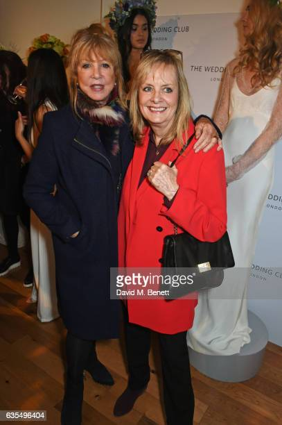 Pattie Boyd and Twiggy attend a VIP preview of the new bridal collection by Savannah Miller on February 15 2017 in London England