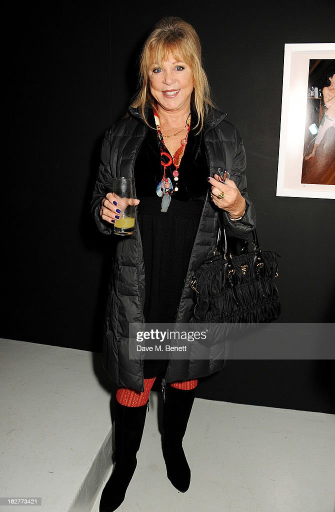 Pattie Boyd attends a private view of Bill Wyman's new exhibit 'Reworked' at Rook & Raven Gallery on February 26, 2013 in London, England.