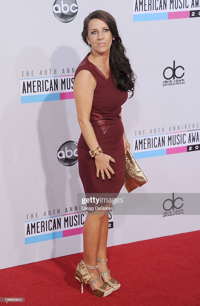 Pattie Mallette arrives at the 40th Anniversary American Music Awards at Nokia Theatre L.A. Live on November 18, 2012 in Los Angeles, California.