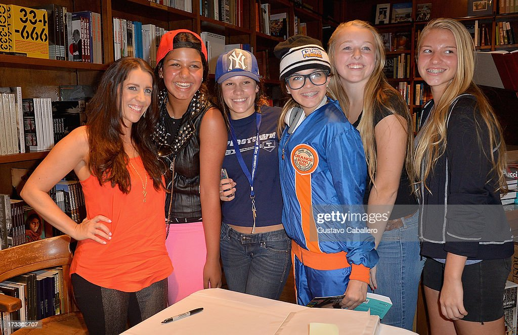 <a gi-track='captionPersonalityLinkClicked' href=/galleries/search?phrase=Pattie+Mallette&family=editorial&specificpeople=6718278 ng-click='$event.stopPropagation()'>Pattie Mallette</a> greets fans and signs copies of her book 'Nowhere But Up - Teen Edition'at Books and Books on July 12, 2013 in Coral Gables, Florida.