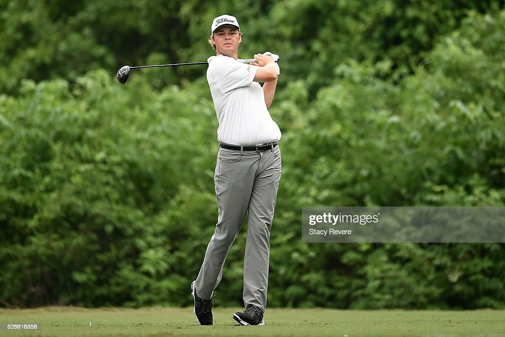 <a gi-track='captionPersonalityLinkClicked' href=/galleries/search?phrase=Patton+Kizzire&family=editorial&specificpeople=5533777 ng-click='$event.stopPropagation()'>Patton Kizzire</a> hits his tee shot on the second hole during a continuation of the third round of the Zurich Classic at TPC Louisiana on May 1, 2016 in Avondale, Louisiana.