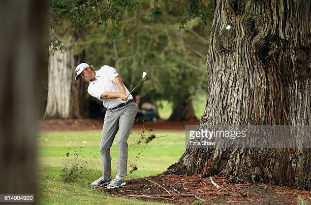 Patton Kizzire plays his shot on the sixth hole during the third round of the Safeway Open at the North Course of the Silverado Resort and Spa on...