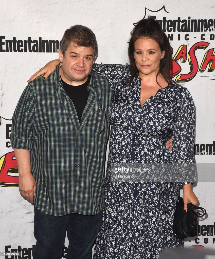 Patton Oswalt (L) and Meredith Salenger at Entertainment Weekly's annual Comic-Con party in celebration of Comic-Con 2017 at Float at Hard Rock Hotel San Diego on July 22, 2017 in San Diego, California.