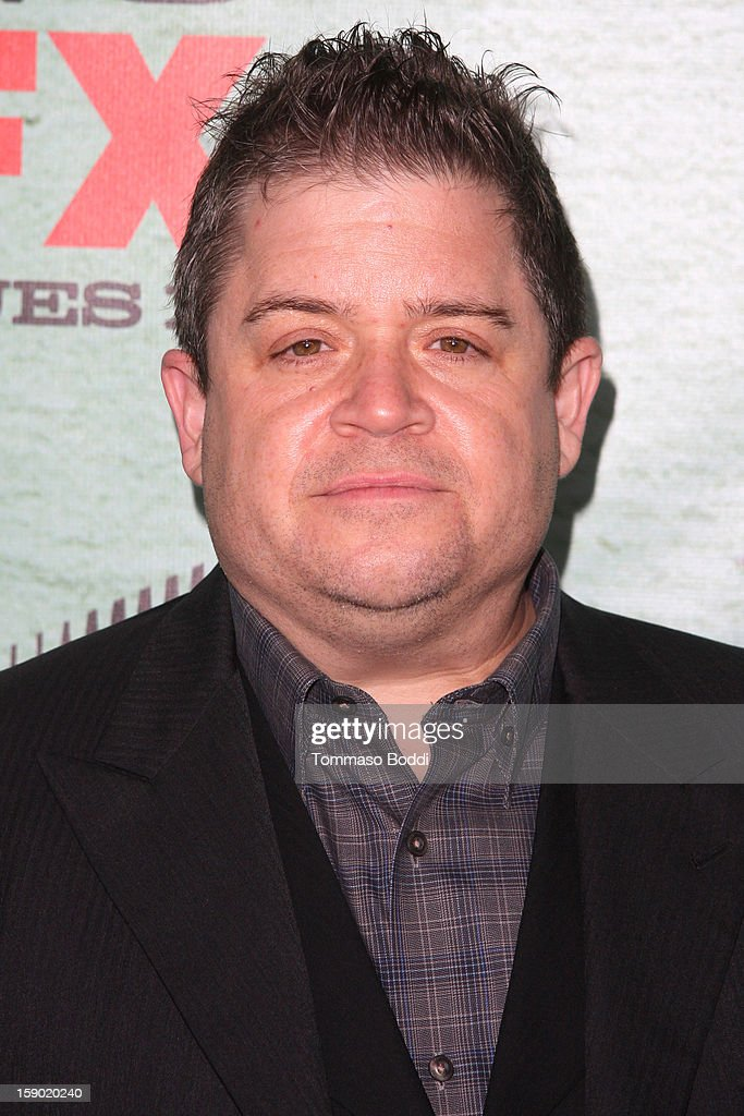 Patton Oswalt attends the FX's 'Justified' season 4 premiere held at Paramount Theater on the Paramount Studios lot on January 5, 2013 in Hollywood, California.