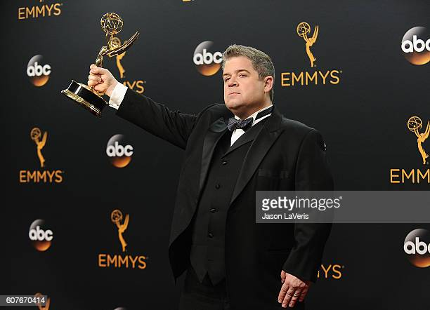 Patton Oswalt poses in the press room at the 68th annual Primetime Emmy Awards at Microsoft Theater on September 18 2016 in Los Angeles California