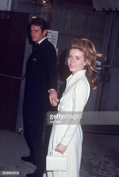 Patty Duke and her husband Harry Falk circa 1970 New York