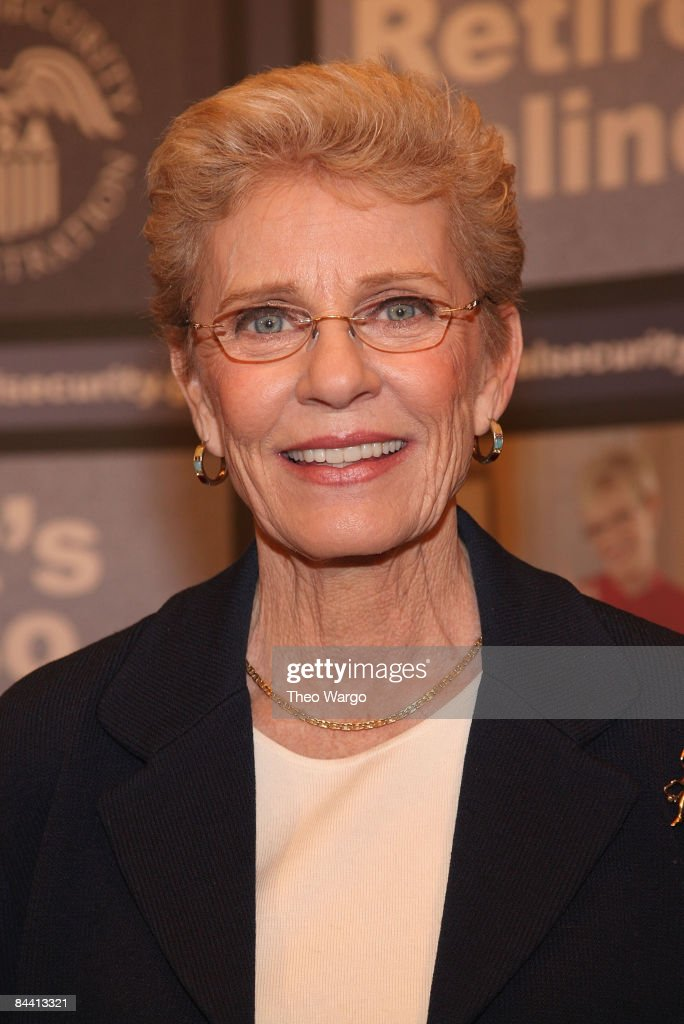 <a gi-track='captionPersonalityLinkClicked' href=/galleries/search?phrase=Patty+Duke&family=editorial&specificpeople=93921 ng-click='$event.stopPropagation()'>Patty Duke</a> speaks at the national premiere of her Social Security public service announcement at the Paley Center for Media on January 6, 2009 in New York City.