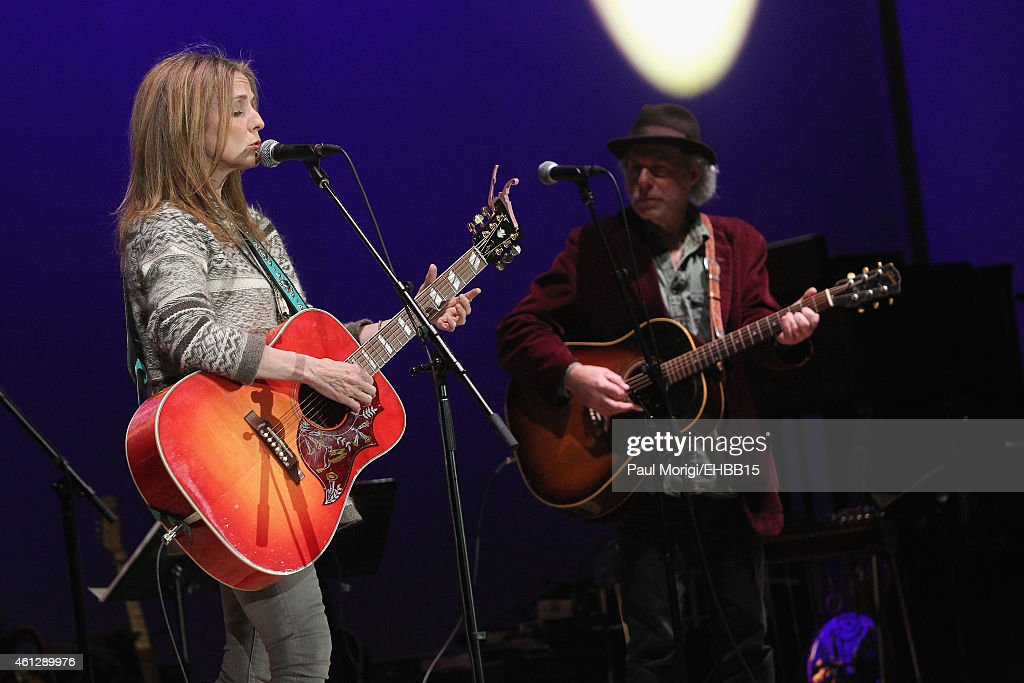 Patty Griffin and Buddy Miller rehearse onstage for The Life & Songs of Emmylou Harris: An All Star Concert Celebration at DAR Constitution Hall on January 10, 2015 in Washington, DC.