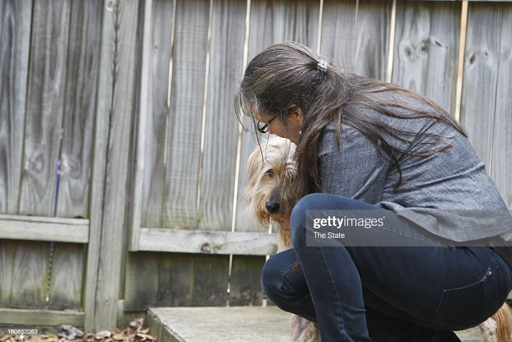 Patty Hall, pictured January 30, 2013, adopted Shaggy, a stray from West Columbia, South Carolina, that became an Internet sensation.