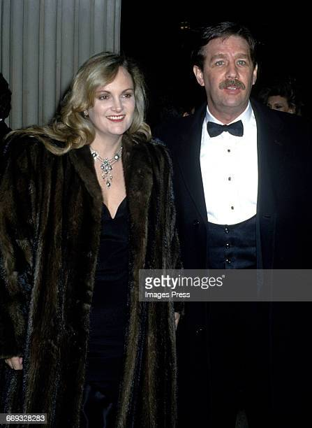 Patty Hearst and Bernard Shaw attend the 1992 Metropolitan Museum of Art's Costume Institute Gala circa 1992 in New York City