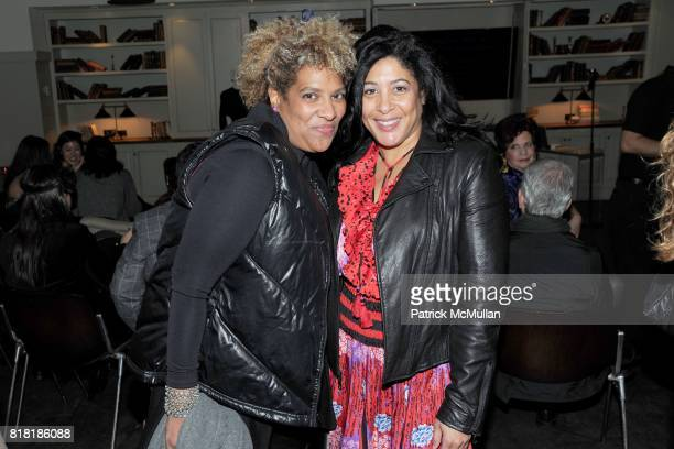 Patty Hughes and Julie Walker attend 'Forgotten Fashion' book party honoring the release of Let's Bring Back by Lesley MM Blume at Library on...