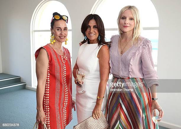 Patty Huntington Tracy Baker and Laura Brown pose during the Australian Fashion Foundation Awards 2016/17 on December 19 2016 in Sydney Australia