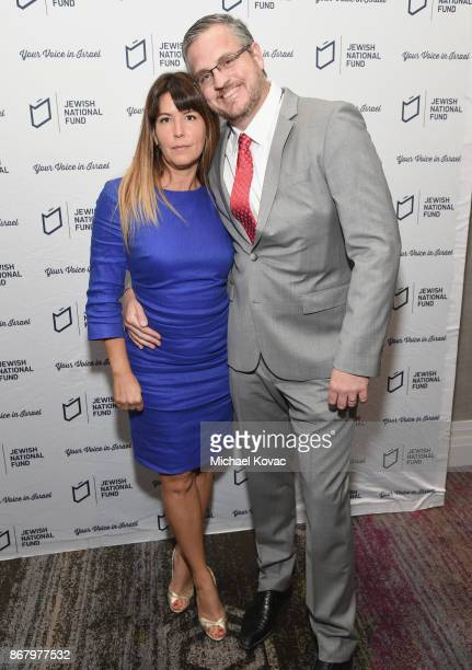 Patty Jenkins and Sam Sheridan attend the Jewish National Fund Los Angeles Tree Of Life Dinner at Loews Hollywood Hotel on October 29 2017 in...