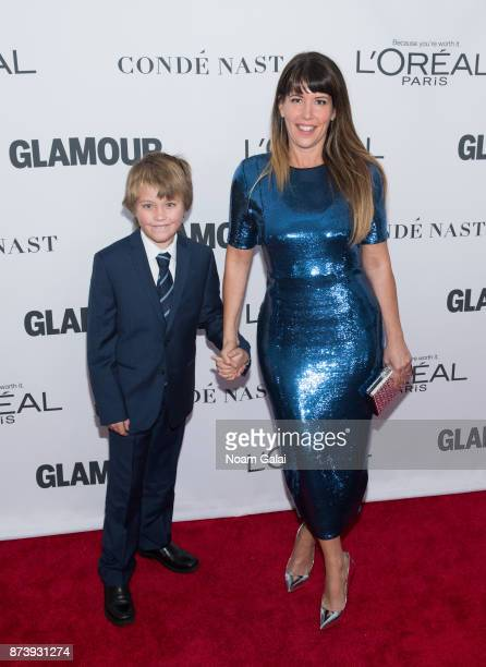 Patty Jenkins and son attend the 2017 Glamour Women of The Year Awards at Kings Theatre on November 13 2017 in New York City