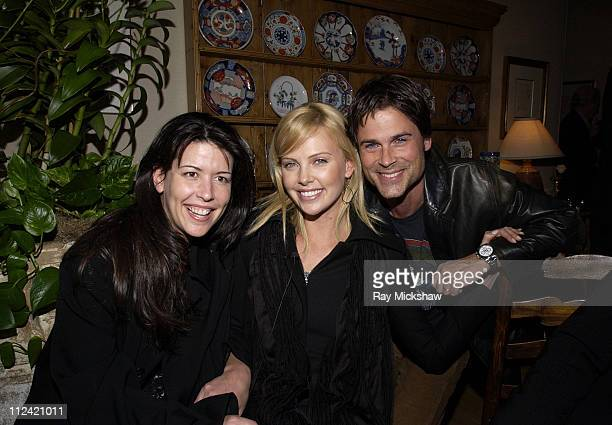 Patty Jenkins Charlize Theron and Rob Lowe during 19th Santa Barbara International Film Festival Honors Charlize Theron for Outstanding Performance...