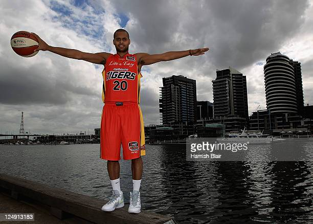 Patty Mills of the Melbourne Tigers poses for a photo during the 2011/12 NBL season launch at MAIA Central Pier 15 on September 14 2011 in Melbourne...