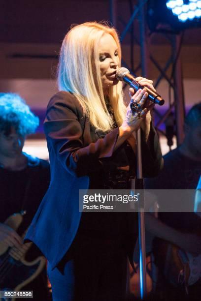Patty Pravo an Italian singer in concert in Napoli Italy