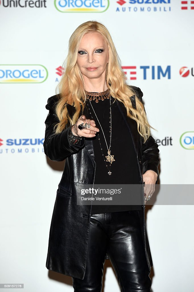 <a gi-track='captionPersonalityLinkClicked' href=/galleries/search?phrase=Patty+Pravo&family=editorial&specificpeople=2471956 ng-click='$event.stopPropagation()'>Patty Pravo</a> attends a photocall at 66. Sanremo Festival at Teatro Ariston on February 9, 2016 in Sanremo, Italy.