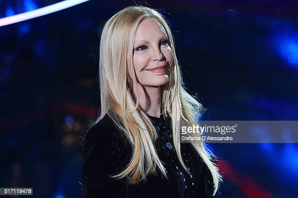 Patty Pravo attends E poi c'e' Cattelan Tv Show on March 23 2016 in Milan Italy