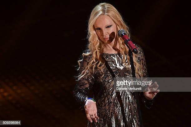 Patty Pravo attends second night of the 66th Festival di Sanremo 2016 at Teatro Ariston on February 10 2016 in Sanremo Italy