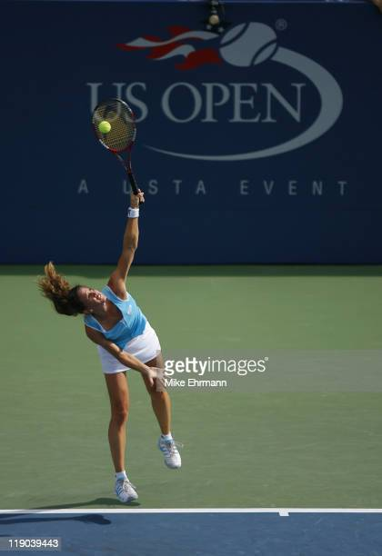 Patty Schnyder during a third round match against Lindsay Davenport at the 2006 US Open at the USTA National Tennis Center in Flushing Queens NY on...