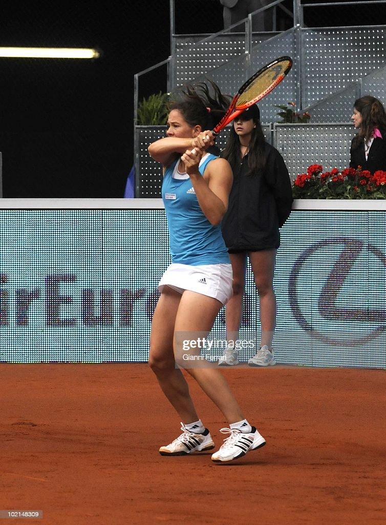 Patty Schnyder, SUI, tennis in 'Mutua Madrilena Madrid Open' , 8th May 2010, in 'La Caja Magica'. Madrid, Spain.