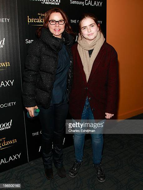 Patty Smyth McEnroe and daughter Ruby attend the Cinema Society with The Hollywood Reporter and Samsung Galaxy screening of 'The Twilight Saga...