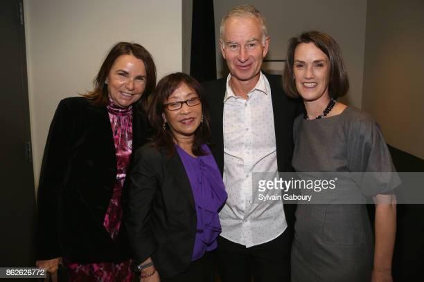 Patty Smyth Michiko Kakutani John McEnroe and Whitney Donhauser attend Museum of the City of New York honors Gloria Steinem Whoopi Goldberg Michiko...