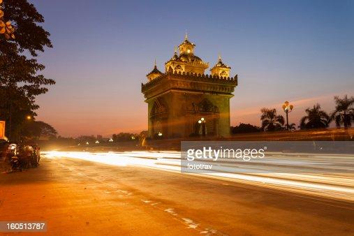 Patuxai in Vientiane, Laos : Stock Photo