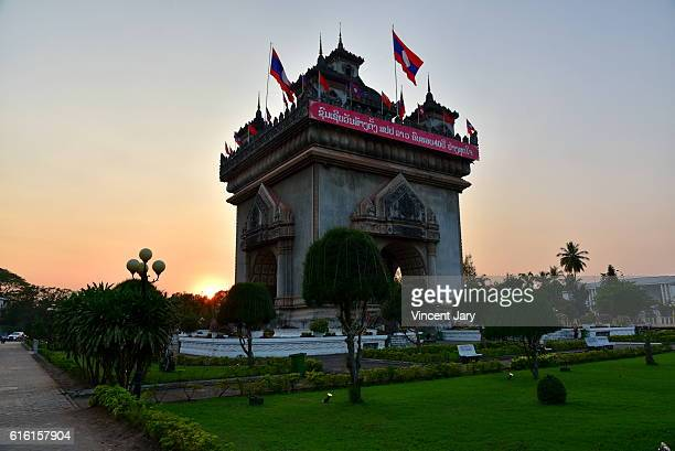 Patuxai triumphal arch Vientiane Laos