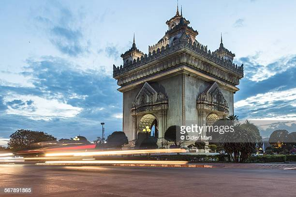 Patuxay monument in Vientiane in Laos