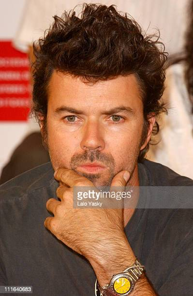 Pau DonZs of Pop band 'Jarabe de Palo' during Spanish Latin Grammys Nominated Press Conference Madrid in Madrid Spain