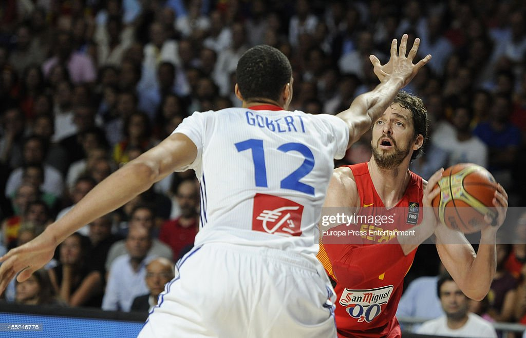 Pau Gasol of Spain is seen during the 2014 FIBA World Basketball Championship quarter final match between Spain and France on September 10 2014 in...