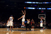 Pau Gasol of the Chicago Bulls and the Eastern Conference tips off against Marc Gasol of the Memphis Grizzlies and the Western Conference during the...